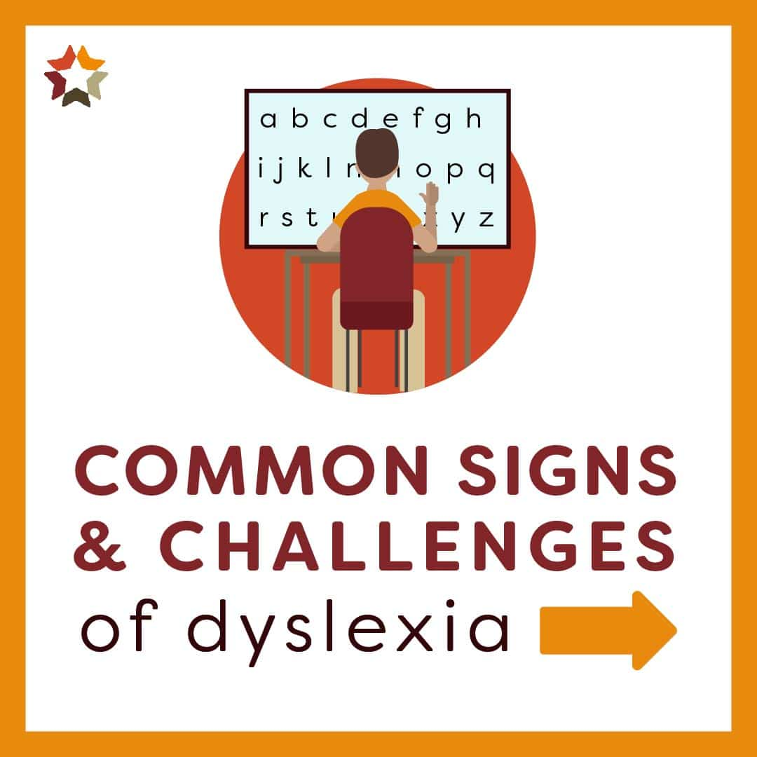 Common Sign and Challenges of Dyslexia Slide 1